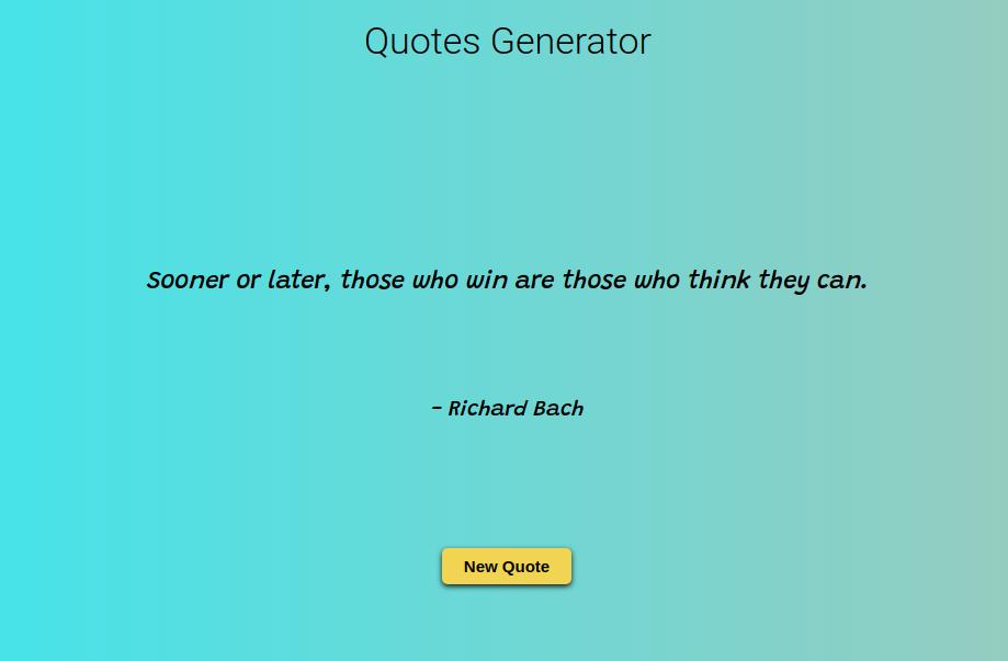 Quotes Generator